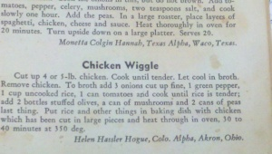 Chicken Wiggle from Phi Beta Phi cookbook