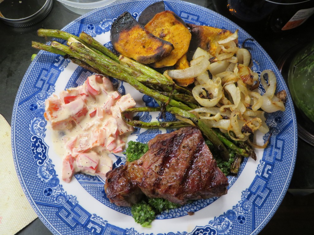 Plated Grilled Meal