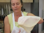 Stretching borek dough