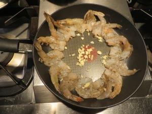 Shrimp mis en place