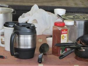 Bean setup at Snow's